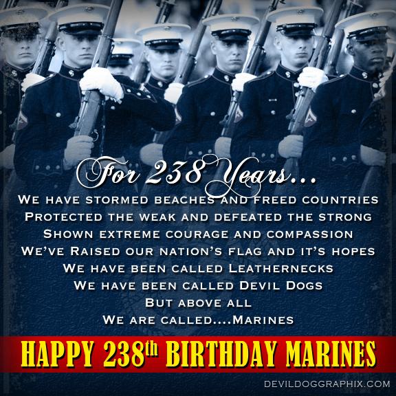 Happy 238th Birthday Marines!